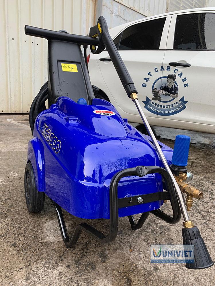 Cách treo súng và cách treo dây áp lực của máy rửa xe cao áp Mazzoni KC3000