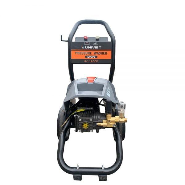 Máy rửa xe cao áp UNIVIET UV - 1200P được thiết kế nhỏ gọn