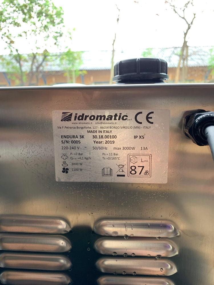 Phụ kiện của Máy dọn nội thất bằng hơi nước nóng Idromatic Endura 3K