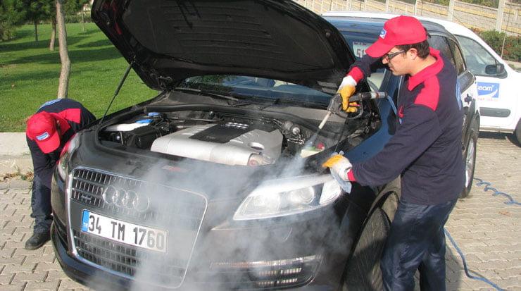 Máy rửa xe hơi nước nóng Optima Steamer sử dụng an toàn cho động cơ xe