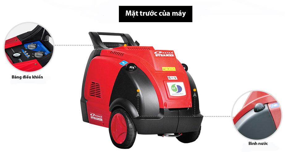 Máy rửa xe hơi nước nóng Steamer Optima Est 18k