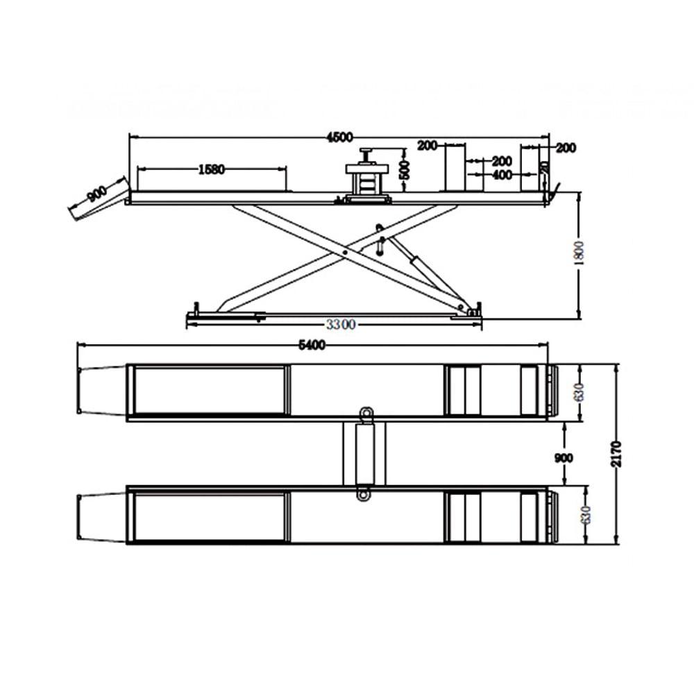 Cầu nâng cắt kéo 3.5 tấn UNIKA U-6108C