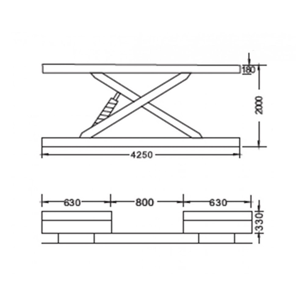 Cầu nâng cắt kéo 3.5 tấn UNIKA U-6109