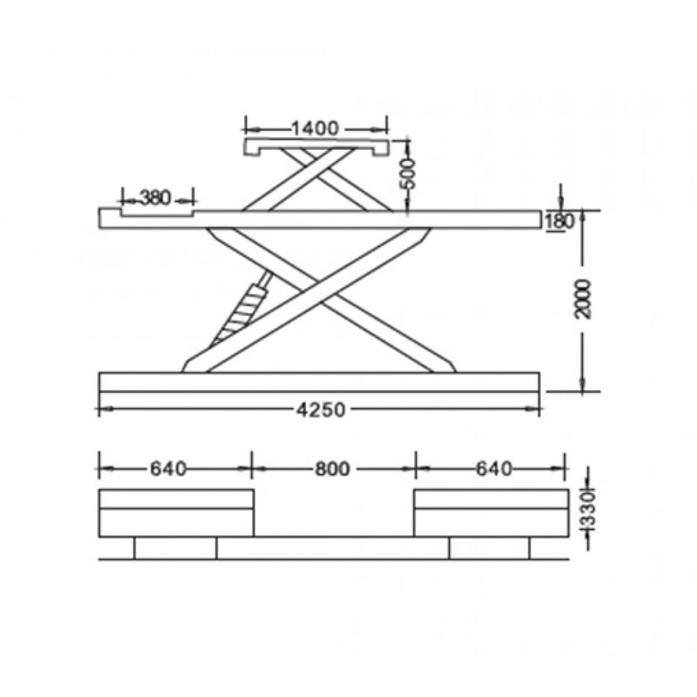 Cầu nâng cắt kéo 4.5 tấn UNIKA U-6108A