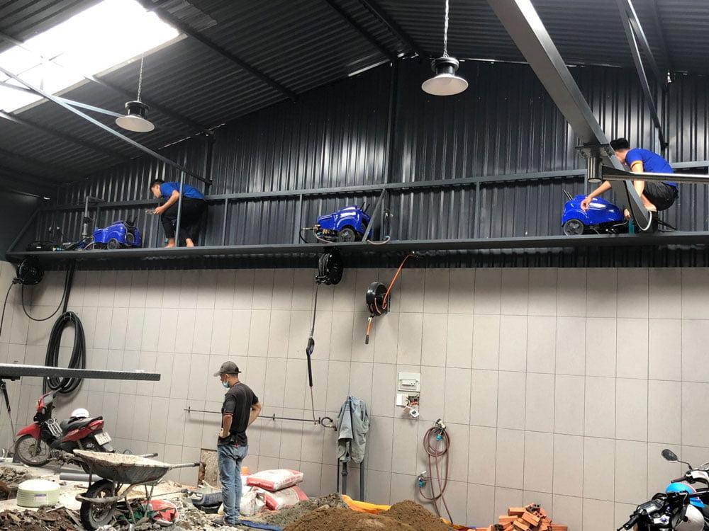 Lắp đặt các máy rửa xe Mazzoni