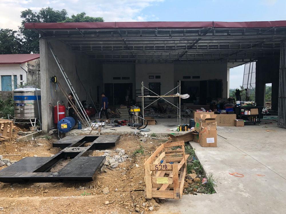 Lắp đặt trọn bộ thiết bị rửa xe cho trạm tại Ba Vì