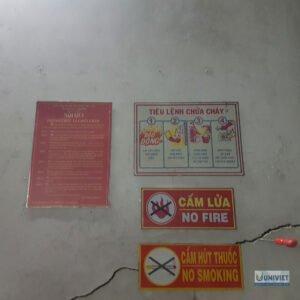 Các bảng quy định về phòng cháy chữa cháy